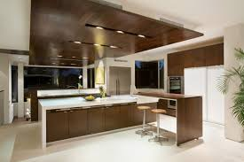 kitchen of Modern House with Many Open Areas