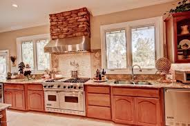 One Wall Kitchen Designs Interesting Country Kitchen With Limestone Tile Floors Stainless Undermount 48