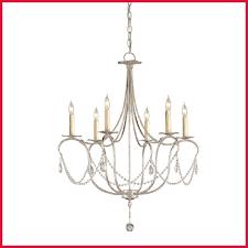 amazing currey u company crystal silver leaf six light small image chandelier and