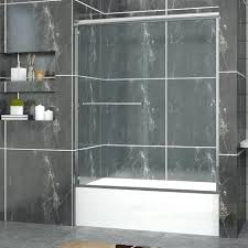 sunny shower new semi bypass 2 sliding tub bathtub door heavy clear glass doors frosted 5