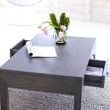 rectangle dark grey stained lift top low coffee table