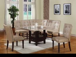 leather breakfast nook furniture. Rectangle Cream Marble Table Top With Black Wooden Shelf And Legs Combined Corner Leather Bench Back Also Breakfast Nook Furniture A