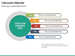 Timeline Ppt Slide Circular Timeline Powerpoint Template Sketchbubble