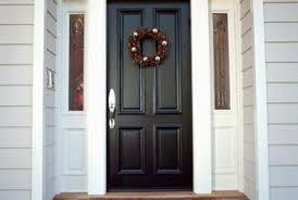 single front doors. a double front door can be replaced with single sidelights. doors