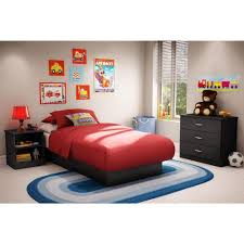 south shore libra twinsize platform bed in pure black