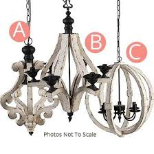 rustic wood chandelier french shabby