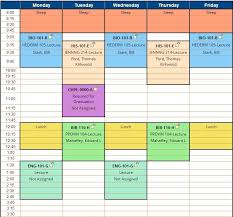 create college class schedule make schedule college magdalene project org
