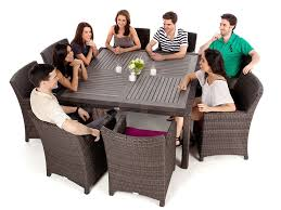 nico square wood top patio dining table