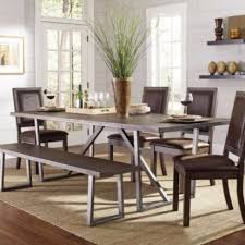 dining room table sets with bench. Coaster Table And Chairs Brown Leather Bench At Bellagio Furniture Store Houston Texas Dining Room Sets With