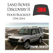 Land Rover Discovery 2 Hood Blackout Decal Sticker Disco II | eBay