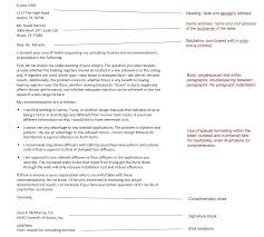 Formal Letter Heading Format Online Technical Writing Business Correspondence Overview