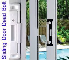 sliding glass door deadbolt designs for patio ideas 2