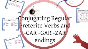 Irregular Preterite Car Gar Zar Verbs By Lindsey Horner On