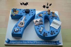 Personalised 70th Birthday Cake