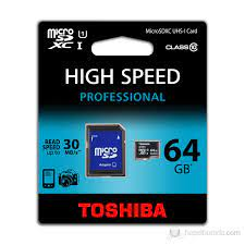 Toshiba 64GB UHS-1 Class-10 Profesyonel Micro SD Hafıza Fiyatı