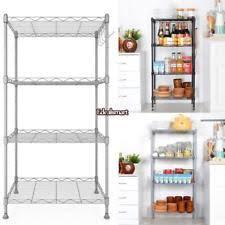 kitchen wire shelving. 4-Shelf Wire Shelving Rack Metal Shelf Adjustable Unit Garage Kitchen Storage P