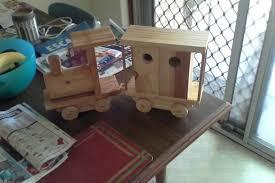 wooden toy trains handmade