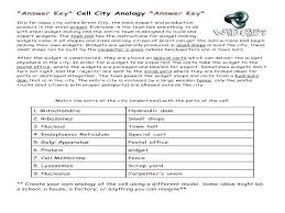Cell City Analogy Examples Analogy Worksheets For High School Analogies Worksheet