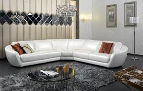 italian furniture small spaces. Luxury Leather Sectional Sofa For Living Room Decoration With Stand Floor Lamp And Unique Wall Art Italian Furniture Small Spaces .