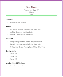 Basic Resumes Templates Resume Templates Simple Basic Examples For Students Template Easy