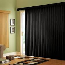 if you are still shying away from vertical blinds then roller shades are also a great option depending on the width of your sliding glass doors
