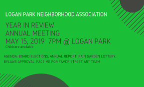 Logan Park Neighborhood Association Annual Meeting 5 15 19
