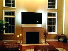 gas fireplace tv above how high to hang mounting above gas fireplace how high to hang