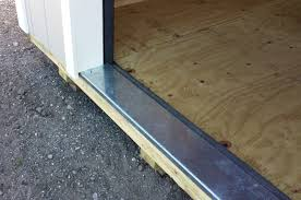 all roll up garage door packages comes with this rugged 90 degree 1 6 inch 8 gauge galvanized threshold to protect floor edge from excessive wear