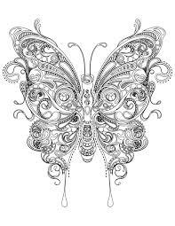 Coloriage Papillon Tr S Difficile Imprimer Coloriage Papillon