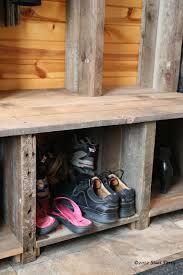 Mudroom Cubbies Plans Reclaimed Wood Constructed Into Rustic Entryway Bench Random