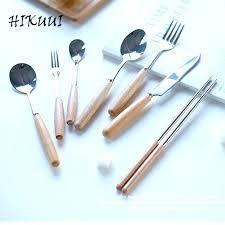 wooden handle flatware sets wood handle flatware set wood handle cutlery stainless steel western food flatware wooden handle flatware sets