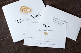 Response Card Envelope Tie The Knot