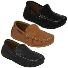 boys moccasins kids leather look shoes driving loafers