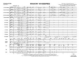 Dave Wolpe Charts Makin Whoopee By Walter Donaldson Arr Dave Wolpe J W