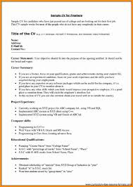 7 Resume Format For Freshers Pdf Musicre Sumed