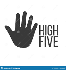 High Five Design High Five Poster Concept Positive Quote In Palm Shape