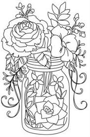Small Picture Daisies in a Jar Coloring Page embroidery patterns Pinterest