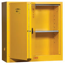flammable liquids safety storage cabinet 30 gal self closing 43 w x 18 d x 44 h