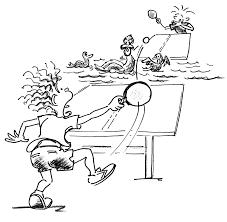 Giochi Di Rinvio Con Bambini Tennis Tavolo Fossato Dacqua