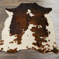 faux cowhide rug shades of light faux cowhide rug beige brown ivory