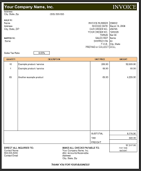 Contractor Invoice Template Excel Subcontractor Invoice Template Excel Invoice Example Sub 78