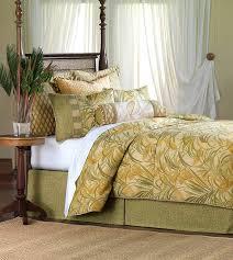 antigua luxury bedding designer bedding coastal tropical palm leaf beads