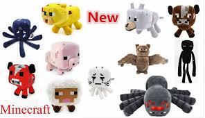 baby wolf minecraft plush.  Wolf 1Pc Wholesale Minecraft Plush Toys GhastEndermanMooshroomWolfOcelotPigSquidBatSpiderCreeper  For Baby Child Gift With Wolf