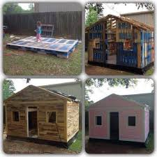 Now how's this for a cubby or garden shed? And it's made from recycled  pallets