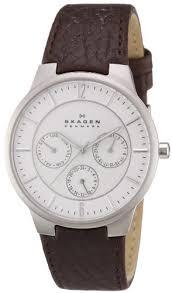 amazon com skagen men s 331xlsl1 jonas dark brown leather watch amazon com skagen men s 331xlsl1 jonas dark brown leather watch skagen watches