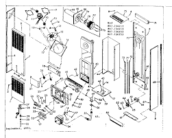 Unit parts diagram parts list for model 867736212 sears
