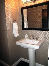 half bathroom ideas gray. Small Half Bath Decorating Ideas Bathroom Gray Guest With Black Wooden Frame Mirror O