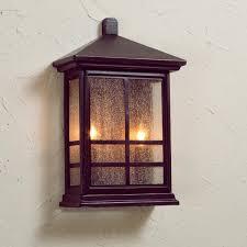 Hickory Point 12 High Walnut Bronze Outdoor Wall Light Craftsman Pocket Outdoor Light Lighting Exterior Light