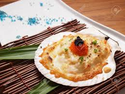 Baked Scallops With Cheese Recipe Stock ...