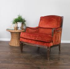 vintage velvet chair. Interesting Velvet Antique Red Velvet Chair In Vintage I